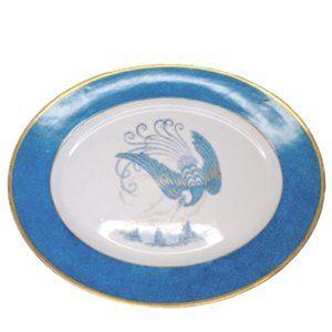 Bernardaud and Co Large Teal & Gold Bird Platter
